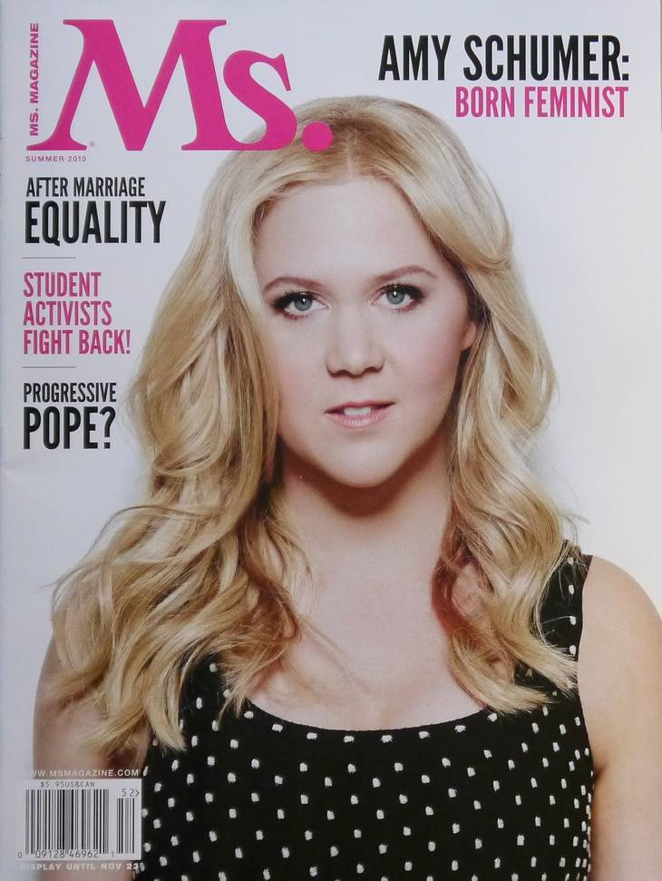 Amy Schumer taille | Ms. magazine [CC BY-SA 4.0 (https://creativecommons.org/licenses/by-sa/4.0)], via Wikimedia Commons