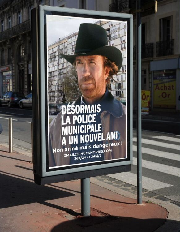 Police Béziers Chuck Norris